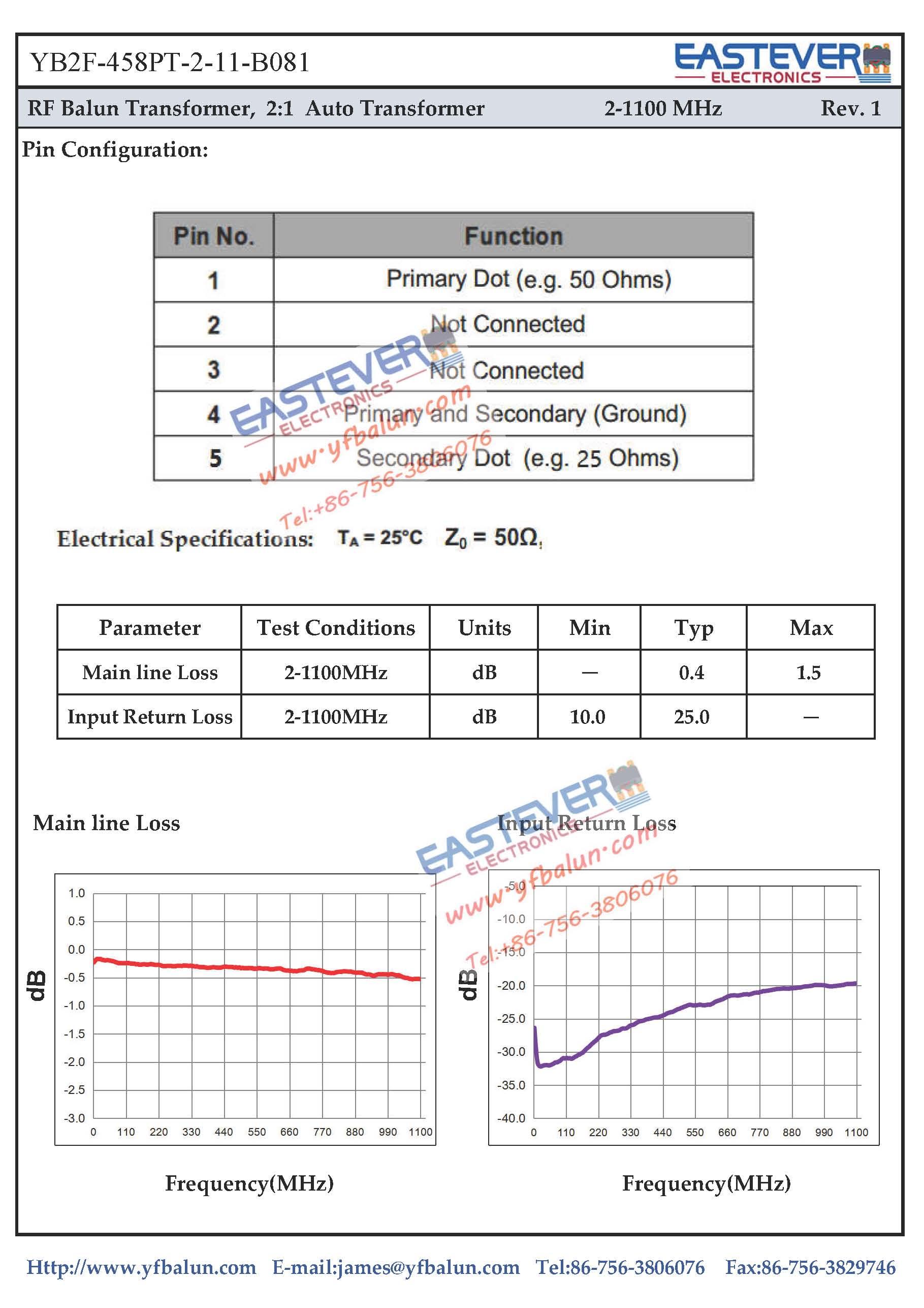 2:1 Auto Transformer_Yangxi YueFat Industrial Co., Ltd.